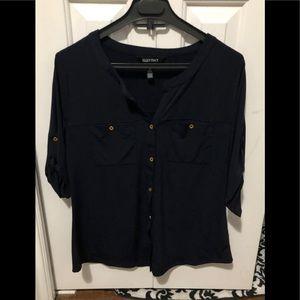 Navy Blue bottoned blouse